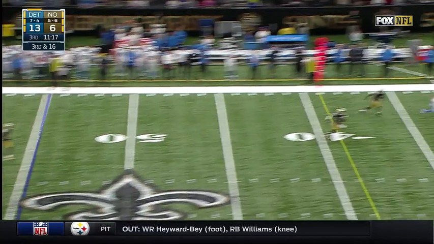 2016 - T.J. Jones gets first catch of 2016 -- for a 36-yard gain
