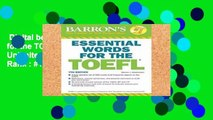 Digital book  Essential Words for the TOEFL, 7th Edition Unlimited acces Best Sellers Rank : #1
