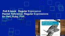 Full E-book   Regular Expression Pocket Reference: Regular Expressions for Perl, Ruby, PHP,
