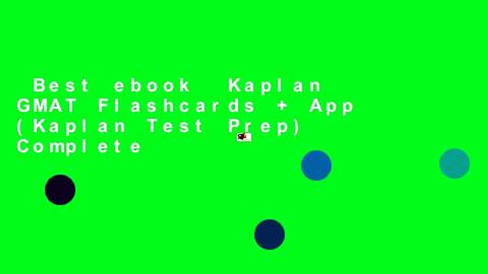 Best ebook Kaplan GMAT Flashcards + App (Kaplan Test Prep) Complete