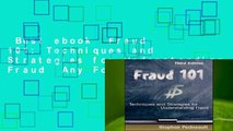 Best ebook  Fraud 101: Techniques and Strategies for Understanding Fraud  Any Format