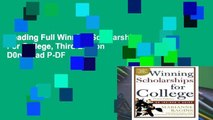 Reading Full Winning Scholarships For College, Third Edition D0nwload P-DF