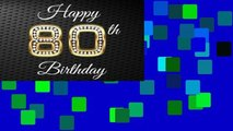 """View Happy 80th Birthday: 80th Birthday Guest Book, Blank Lined Guest Book For Birthdays, (8.25"""" x"""