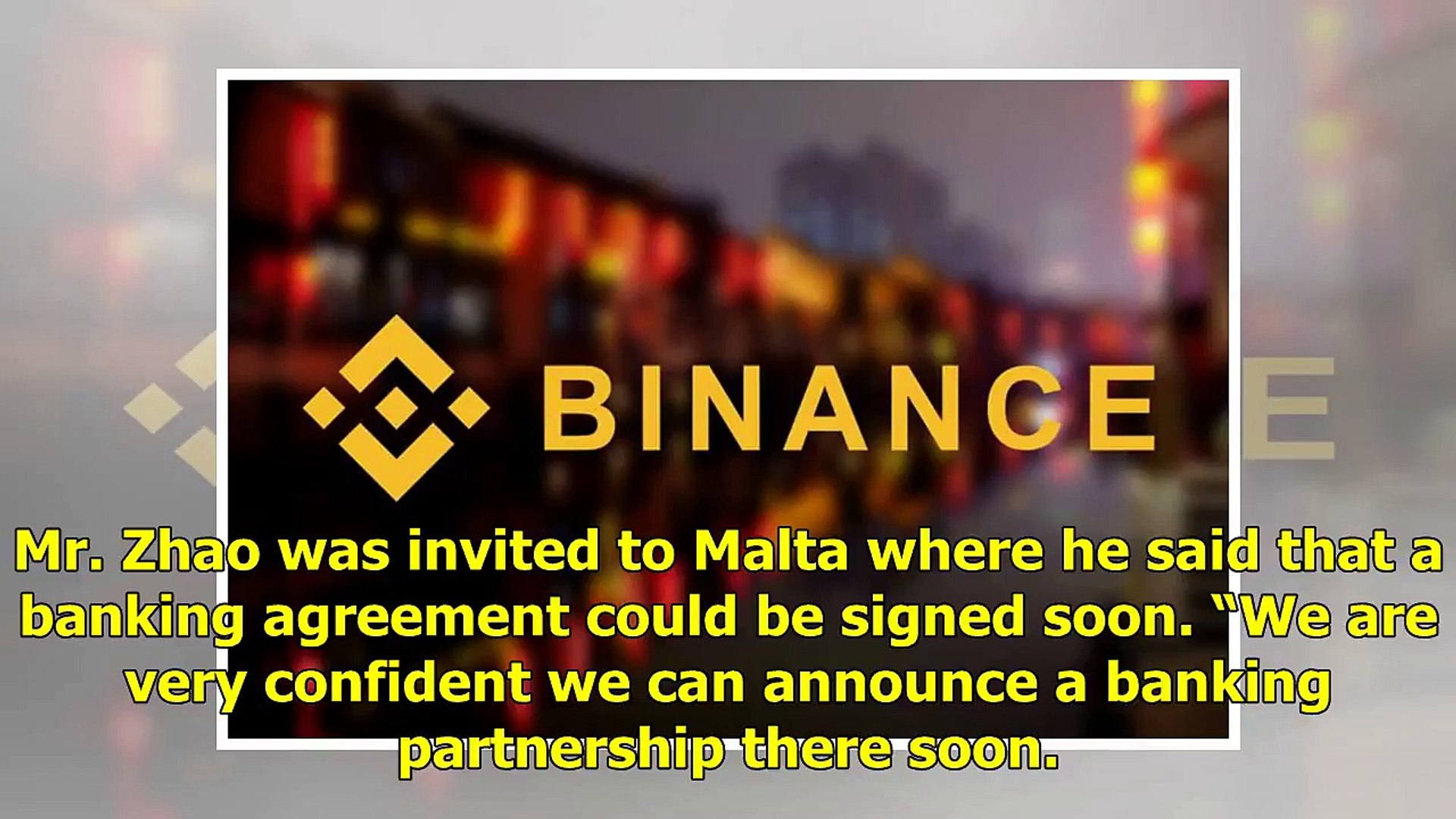 Binance Crypto Exchange Has Set Up a Bank Account in Malta