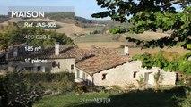 QUERCY - proche Lauzerte - Maison en pierre avec 4 chambres et piscine - belles vues