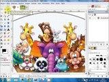 Como preencher parte de uma imagem com outra imagem no GIMP