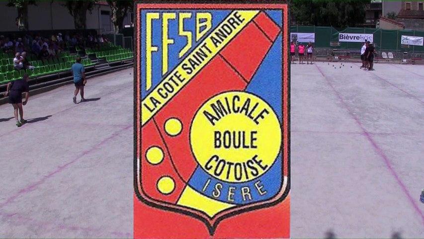 Demi-finales, 115ème édition du Grand Prix Bouliste, la Côte Saint-André 2018