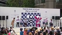 【Video】The Tokyo 2020 Olympic mascot #Miraitowa and the Paralympic mascot #Someity made their debut in Tokyo on July 22. Video: VCG