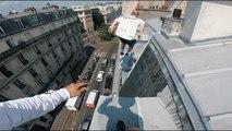 Du parkour sur les toits de Paris filmé en POV