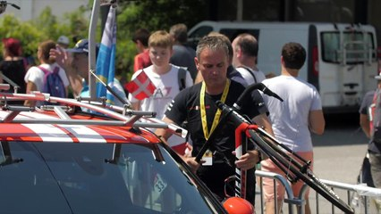 #InsideOut at #TDF2018  A day with the Team Sunweb Mini Team Cars