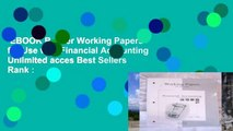EBOOK Reader Working Papers for Use with Financial Accounting Unlimited acces Best Sellers Rank :