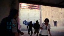 Krav Maga Street Defense Paris - riposte sur attaque avec arme femme et homme
