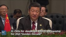 """Chinese President Xi Jinping calls for deepened BRICS partnership for 2nd """"Golden Decade."""" #BRICS2018 #Xiplomacy"""