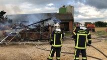 Sept Forges. Un bâtiment agricole détruit par les flammes