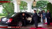 Trump Kim summit- Kim arrives at the hotel - BBC News