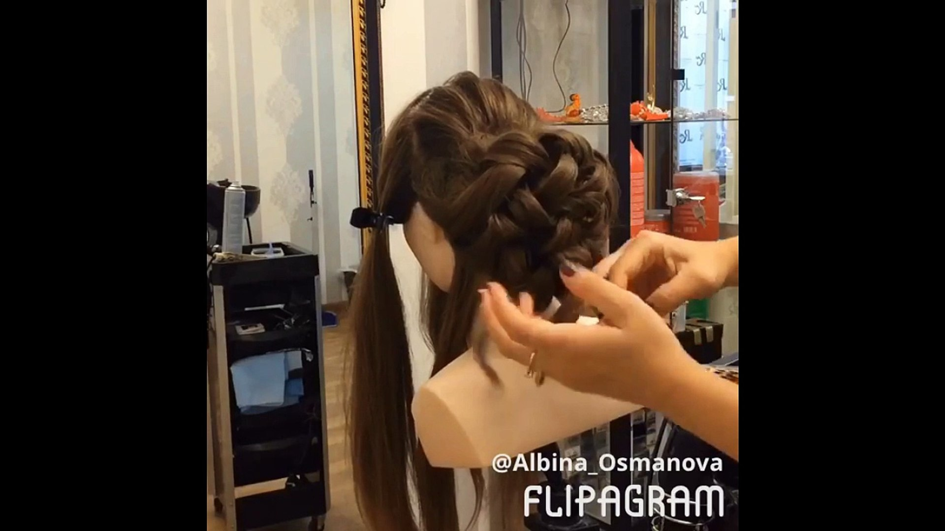 (beautiful braided wedding hairstyles❀how to braid your own hair with nails!)