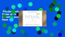 Popular Book  Blink: The Power of Thinking Without Thinking Unlimited acces Best Sellers Rank : #4