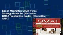 Ebook Manhattan GMAT Verbal Strategy Guide Set (Manhattan GMAT Preparation Guides) (Manhattan GMAT