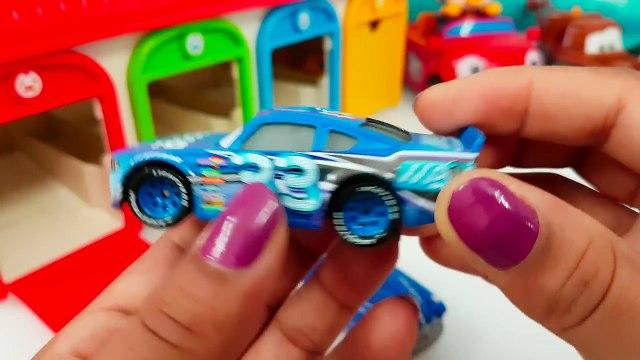 Disney Pixar Cars Tomica Truck Hauler Miss Fritter Learn Colors with Cars Mack Truck Haule