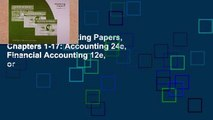 Digital book  Working Papers, Chapters 1-17: Accounting 24e, Financial Accounting 12e, or