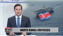 N. Korea criticizes joint military drill by S. Korea, U.S. and Japan
