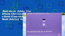 Best ebook  Adobe After Effects CS4 Classroom in a Book (Classroom in a Book (Adobe))  Any Format
