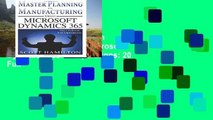 Ebook Master Planning in Manufacturing using Microsoft Dynamics 365 for Operations: 20 Full