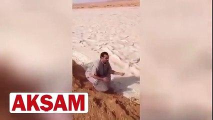Kum seli görenleri hayrete düşürdü