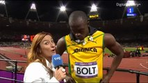Usain Bolt Stops Interview at Olympics To Salute The U S  National Anthem Mad Respect Usain
