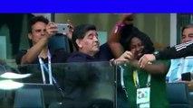 Diego Maradona dancing with Nigerian Lady at Nigeria vs Argentina match