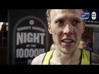 Richard Ringer after winning the 2018 European 10,000m Cup