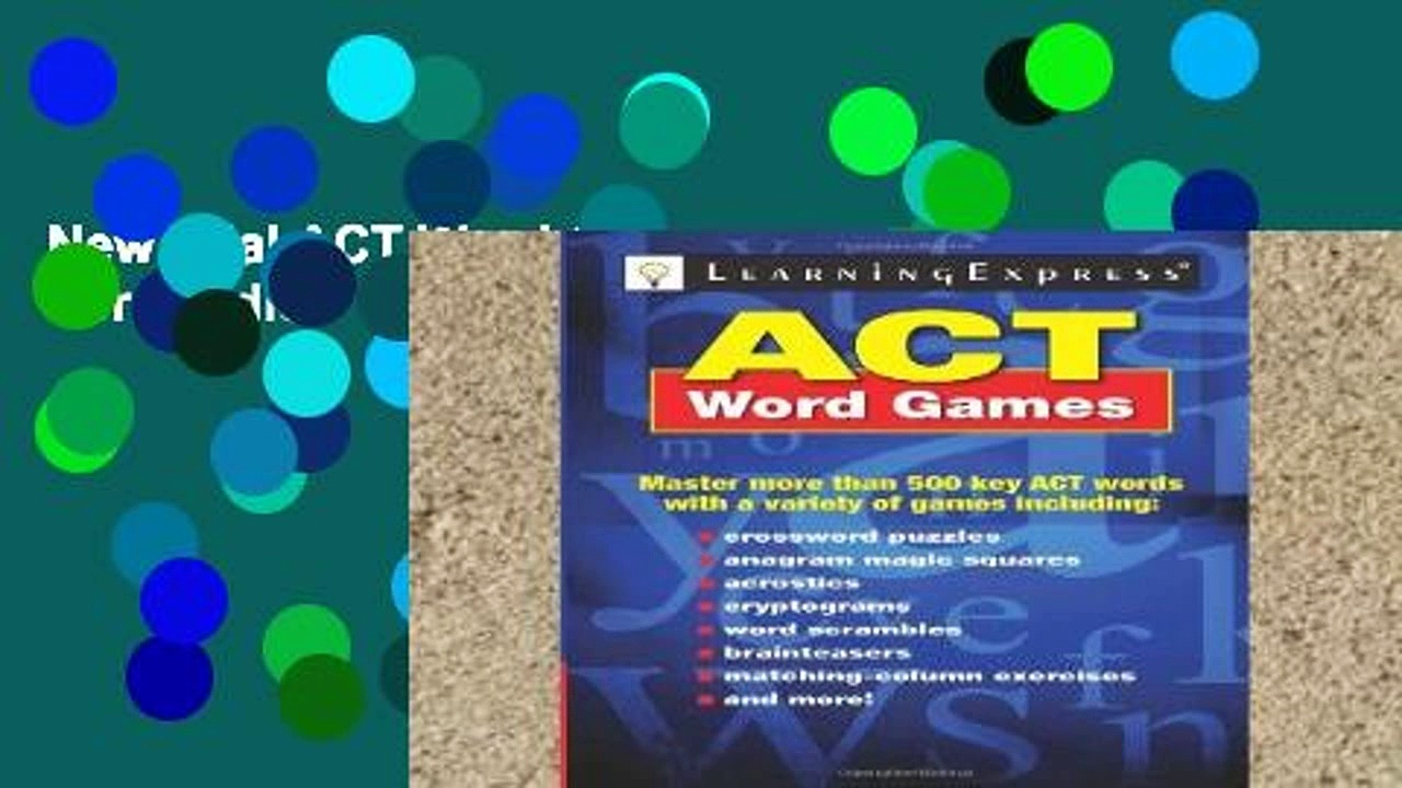 New Trial ACT Word Games For Kindle