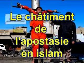 Le châtiment de l'apostasie en islam