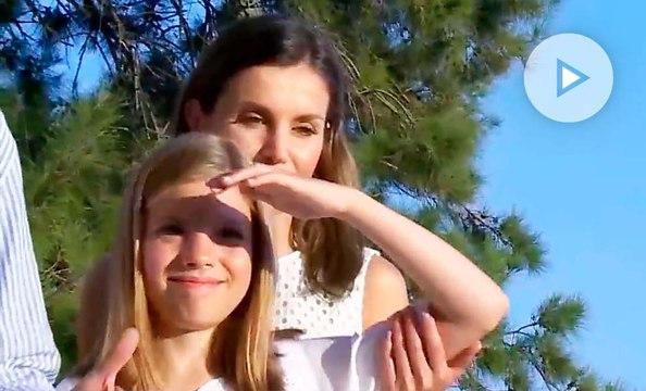 El manotazo de la infanta Sofía a la reina Letizia en el posado en Mallorca