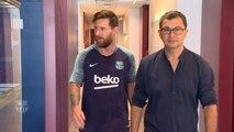 Barcelone - Fin de vacances pour Messi !