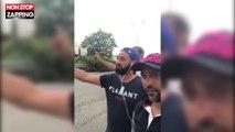 Cyril Hanouna fait du stop avec Ramzy Bédia et Jean-Rachid en vacances (vidéo)