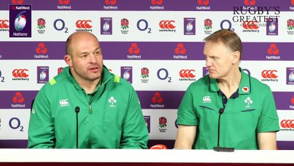 Press Conference Joe Schmidt and Rory Best after Grand Slam success