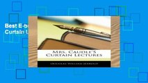Best E-book Mrs. Caudle S Curtain Lectures Full access