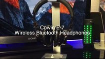 COWIN E7 Active Noise Cancelling Bluetooth Headphones with Microphone Hi-Fi Deep Bass Wireless Headphones Over Ear, Comfortable Protein Earpads, 30H Playtime for Travel Work TV Computer Iphone - Black- Elec
