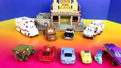 Disney Pixar Cars Emergency Paramedic Car Lightning McQueen Mater Save Radiator Springs Ca