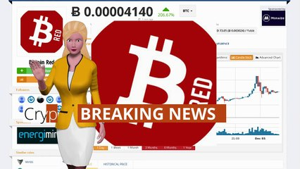 Cryptocurrency Bitcoin Red $BTCRED Rises 206% Over the Last Day