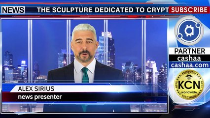 London presented a sculpture of a cryptocurrency ecosystem