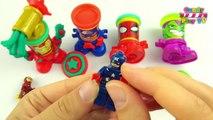 Play Doh MARVEL Avengers Lego Marvel Super Heroes Captain America Spiderman Iron Man Green