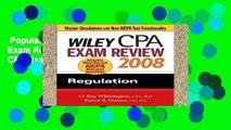 Popular Book  Wiley CPA Exam Review 2008: Regulation (Wiley CPA Examination Review: Regulation)