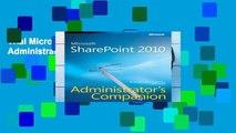 Trial Microsoft SharePoint 2010 Administrator s Companion Ebook