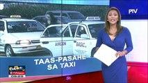 Dagdag-pasahe sa taxi, epektibo na ngayong araw