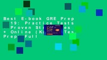 Best E-book GRE Prep 2019: Practice Tests + Proven Strategies + Online (Kaplan Test Prep) Full