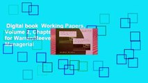 Digital book  Working Papers, Volume 2, Chapters 16-27 for Warren/Reeve/Duchac s Managerial