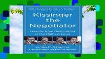 Best ebook  Kissinger the Negotiator  Review