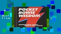 New Releases Pocket Bowie Wisdom: Witty Quotes and Wise Words from David Bowie  Unlimited